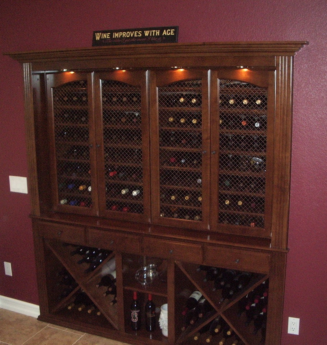 Built in home bar cabinets in Southern California Woodwork Creations