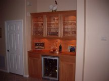 Home Built in Bar Cabinets