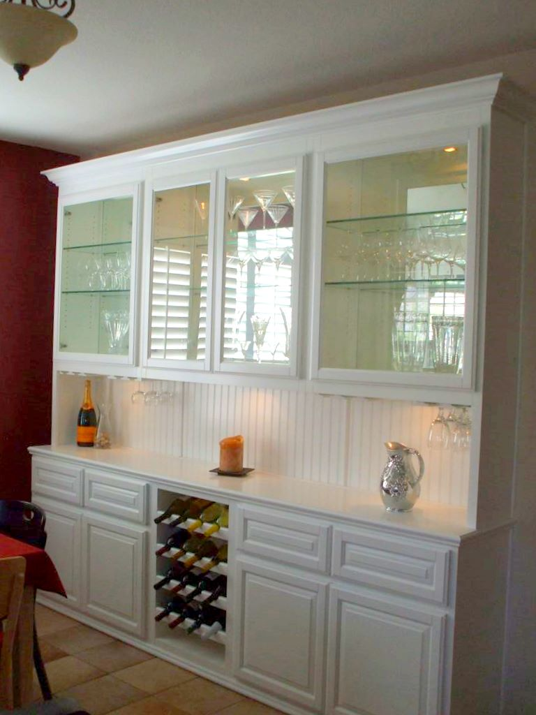 Built in home bar cabinets in Southern California
