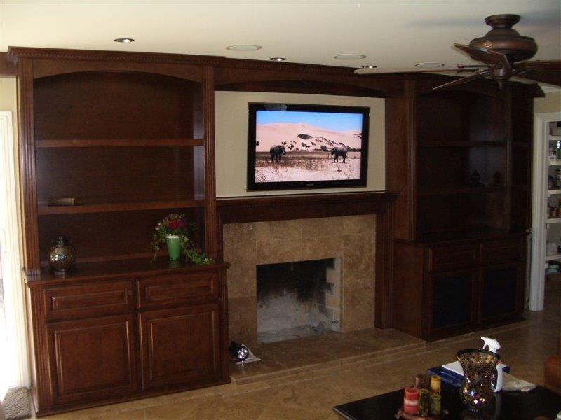 TV Over Fireplace  Woodwork Creations