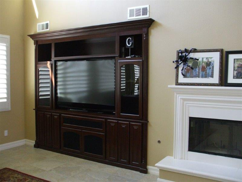 Entertainment centers and wall units designed while you watch
