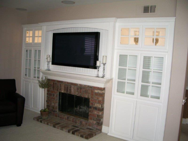 White cabinets for your entertainment center office and