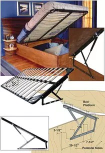 STORAGE BED FRAME AND LIFT KITS