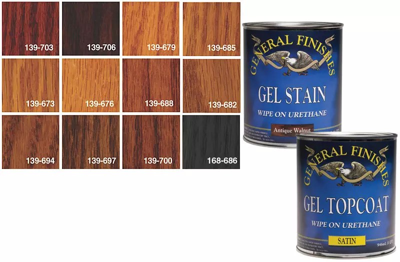 Woodworkercom General Finishes Gel Stains And Topcoat