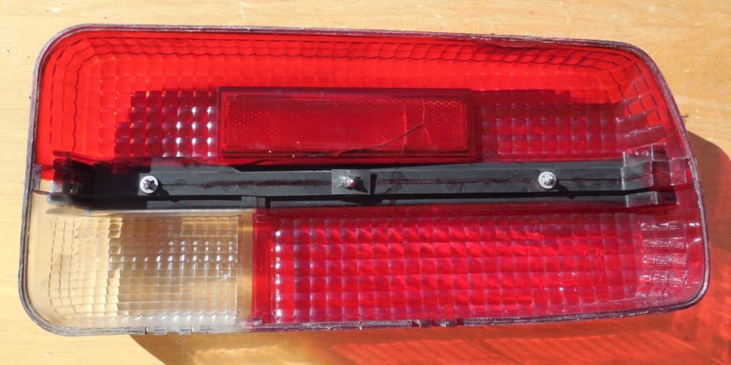 Tail light lens, rear view, fixed, Datsun 240Z seat refurbish, WoodWorkerB