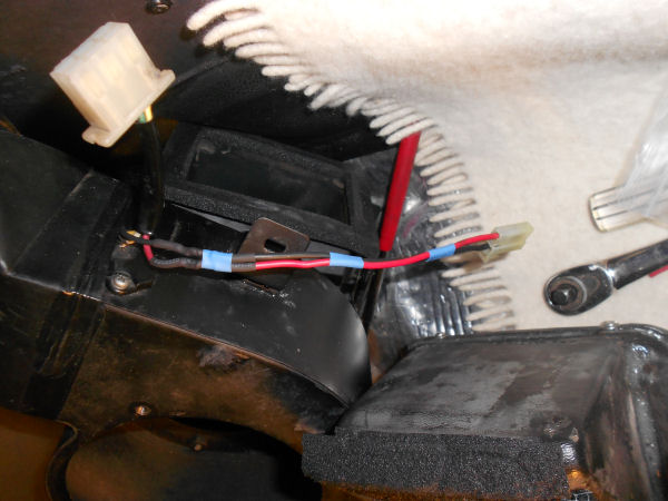 Modified wire harness for new blower