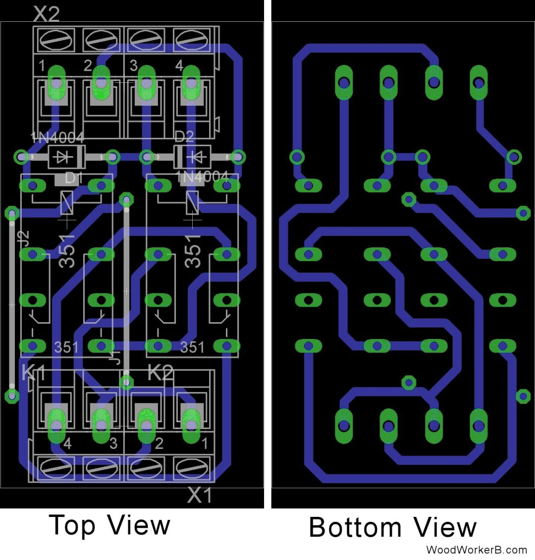 "PC Board Design for ""Polarity Reverser"" - WoodWorkerB"