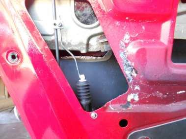 Datsun 240Z Solenoid installed and connected to door locking mechanism