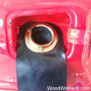 Datsun 240Z fuel tank gas tank, 240Z Filler Neck Installed