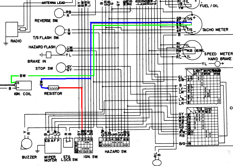 datsun 240z dash wiring diagram