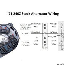 stock alternator wiring diagram [ 1048 x 786 Pixel ]