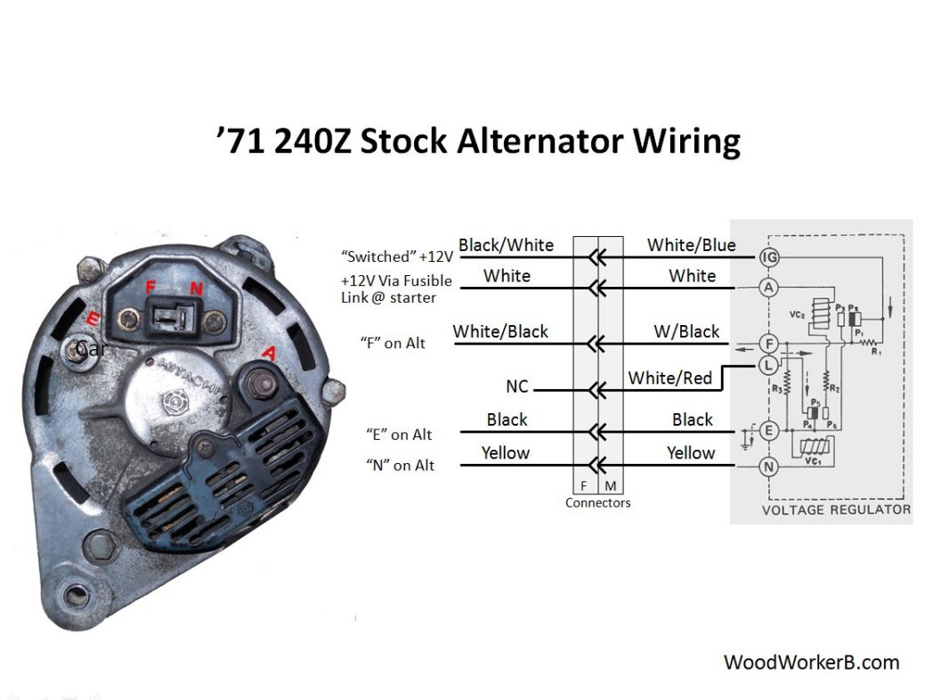 denso alternator 3 pin plug wiring diagram ruud heat pump thermostat 240z upgrade woodworkerb