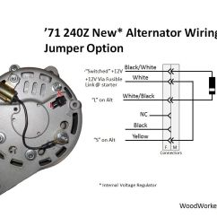 Gm Cs130 Alternator Wiring Diagram 2000 Chevy Blazer Starter 240z Upgrade Woodworkerb With Internal Voltage Regulator This Approach Uses A Jumper In Place Of The Mechanical