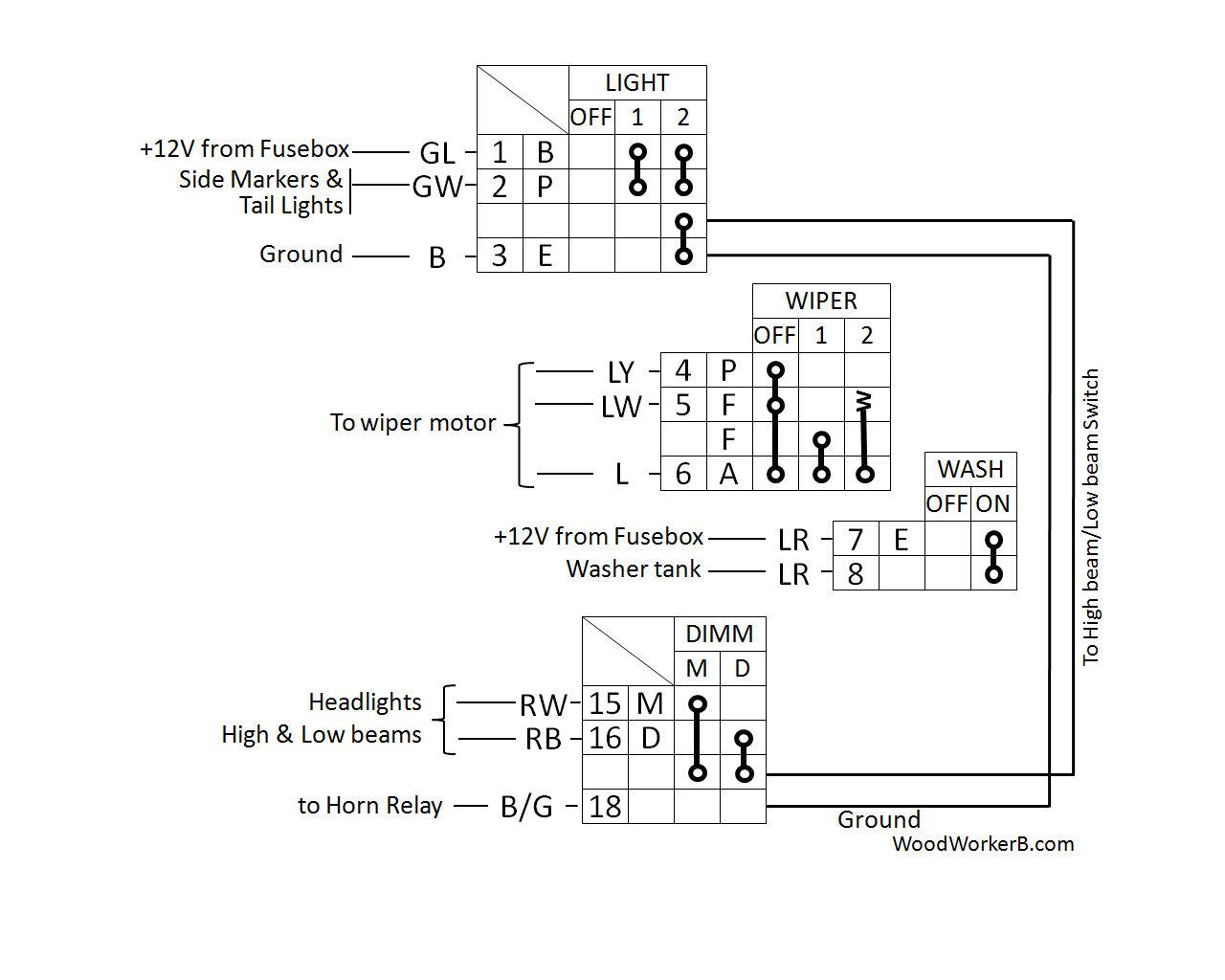 hight resolution of 240z horn diagram