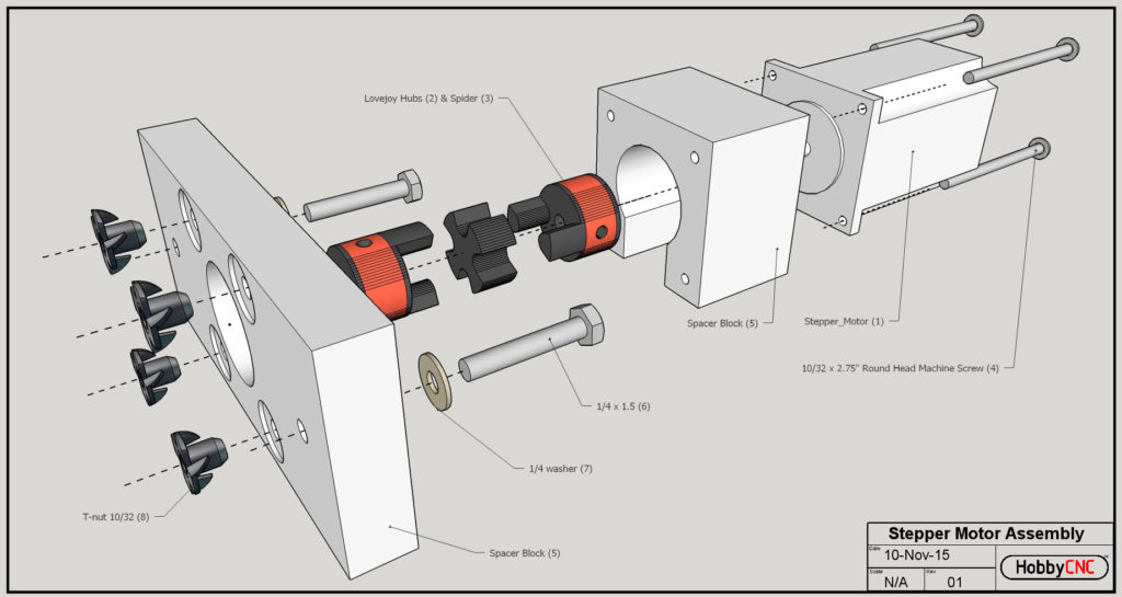 Cnc Mill Wiring Diagram Diy Cnc Stepper Motor Assembly Woodworkerb