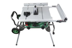 Hitachi C10RJ 10 15 Amp Jobsite Table Saw with 35 Rip Capacity and Fold and Roll Stand