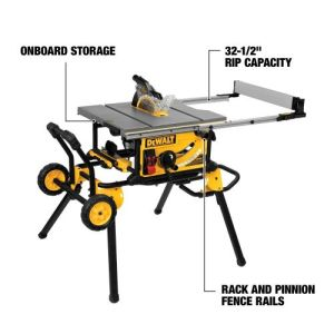 DEWALT - DWE7491RS - 10-Inch Table Saw, 32-1-2-Inch Rip Capacity