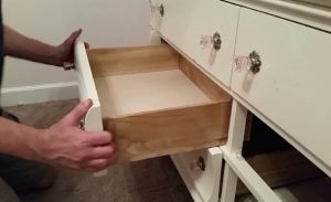 how to replace a wooden drawer slide with a metal one