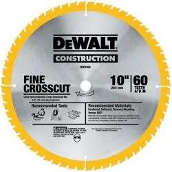 DEWALT 10-Inch Miter / Table Saw Blade