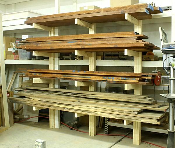 Vertical Lumber Storage Rack Plans