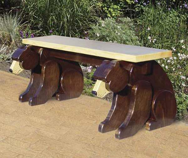 black bear bench woodworking
