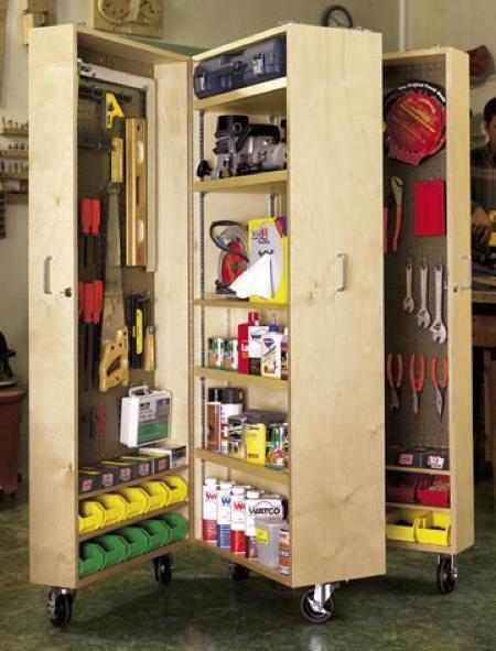 Mobile Tool Cabinet Woodworking Plan  WoodworkersWorkshop