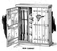 Gun Cabinet Vintage Woodworking Plan - WoodworkersWorkshop