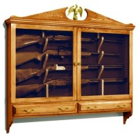 Wall Mounted Gun Cabinet Vintage Woodworking Plan