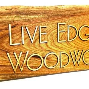 DIY Wood Wall Hanging | Live Edge White Oak