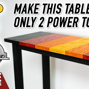 How to make a table with only two power tools. EASY WOODWORKING PROJECT.