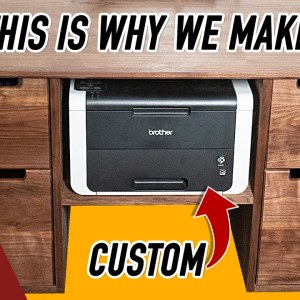 Making a Super Custom Printer Stand / Woodworking Project