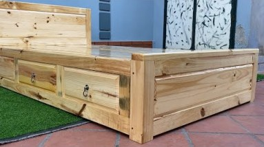 Creative Design – How To Build A  Storage Bed with Drawers
