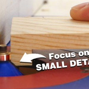 Making a dressing mirror. Highlight small details to elevate a simple project.