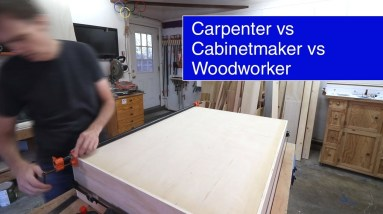 What's the difference between a carpenter, a cabinetmaker, and a woodworker? #shorts
