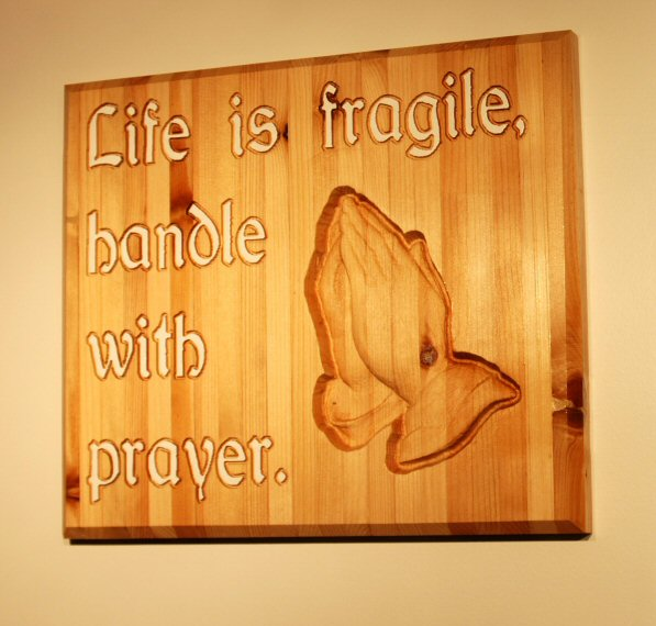 Life is fragile, handle with...
