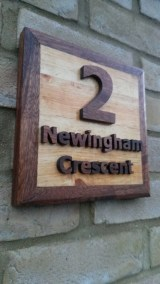 House Number Plaque by Colin Whiting