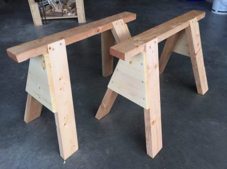 Thanks SO much, Paul. After much chisel,saw,and plane refurbishment and sharpening, I built the sawhorses as my first hand-tool experience. It was so much fun, and I learned a great deal about listening to what the wood has to say. These are from ordinary construction-grade SPF 2 by 4s, and are solid as a rock. Now for a workbench!