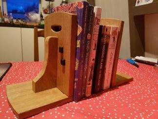 Bookends. A Christmas gift for my daughter's friend.