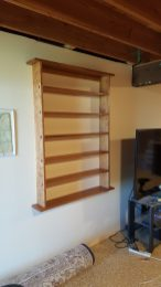 DVD Shelf in Cherry with Splined Through Tenons