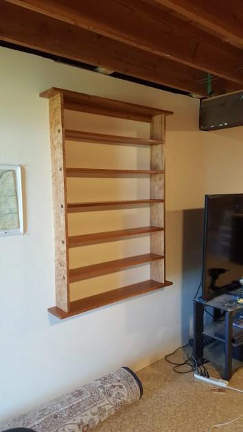 DVD Shelf in Cherry with Splined Through Tenons