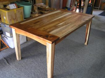Not an easy wood to work with and not a perfect piece but my wife loves it so that is a good score.