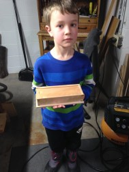Dovetail Pencil Box made with my grandson Max. Soft maple, shellac and wax. Thanks everyone, we had a great time together doing this project.