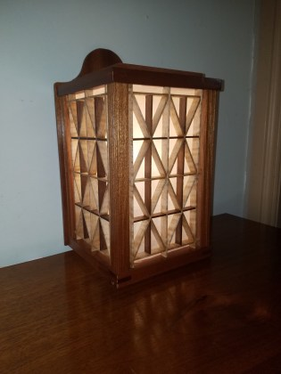 Japanese inspired lamp