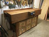 Paul's workbench plus a set of drawers