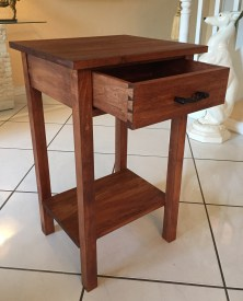 End table with drawer added. Made from poplar and pine. Thank you to Paul and the crew for showing the possibilities of hand tool craftsmanship.