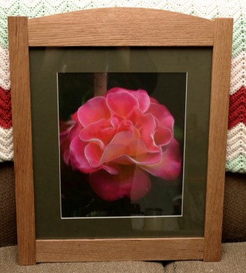 Craftsman style picture frame made from oak