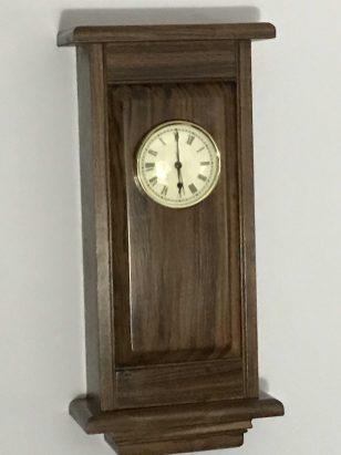 Wall Clock Made of Walnut