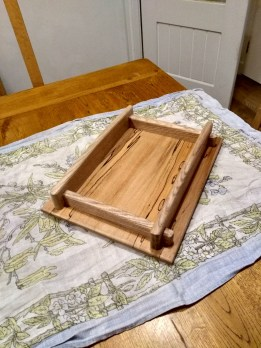 Ash and spalted Beech tray