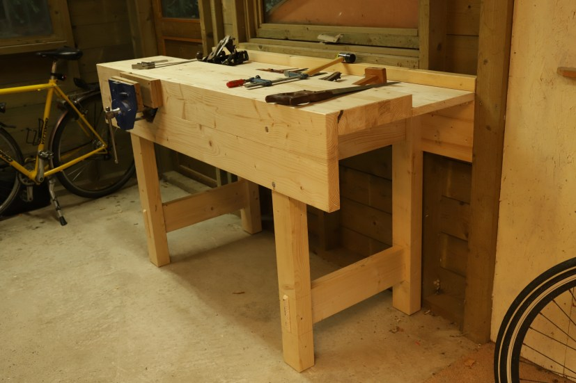 "Used some X-mas holidays to build a new workbench of pine. A real ""Paul Sellers"" design. I am happy with it."