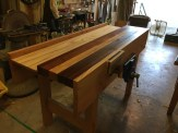 Workbench out of pine and something else...
